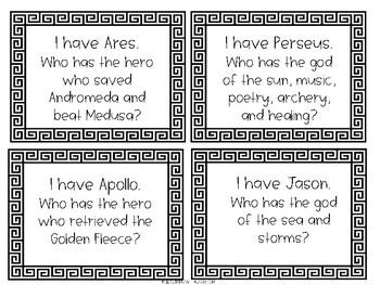 I Have/Who Has-Greek Mythology