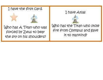 I Have, Who Has Greek Mythology Cards