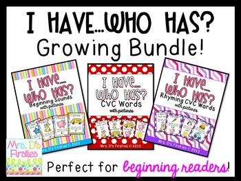 I Have, Who Has?  {Growing Bundle!}