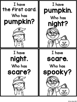I Have Who Has: HALLOWEEN Edition!