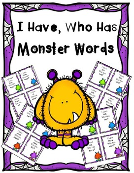 Monsters- I Have Who Has Sight Word Games