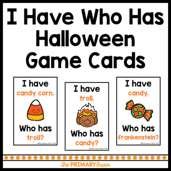 I Have Who Has Halloween ELD Game Cards