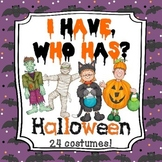 I Have, Who Has - Halloween Game (24 cards/costumes)