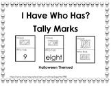 I Have Who Has - Halloween Tally Marks