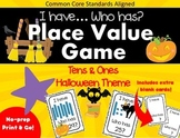 I Have... Who Has - Halloween Theme - Place Value Tens & Ones - CCSS Aligned