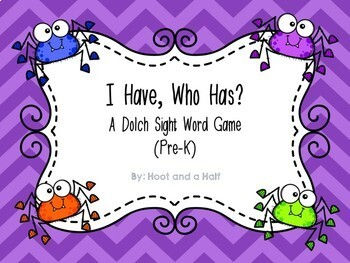 I Have, Who Has? Halloween Themed Dolch Sight Words Bundle (Pre-K-3)