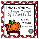 I Have, Who Has? Halloween Themed Dolch Sight Words Bundle