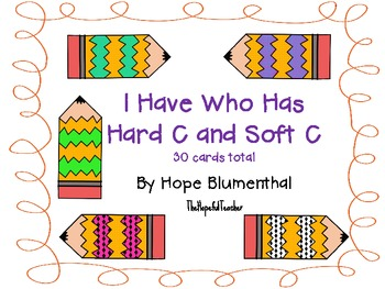I Have Who Has Hard C and Soft C