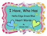 I Have, Who Has Heart Words (Blue/Green)