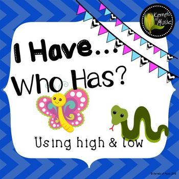 I Have, Who Has? High & Low-Chevron