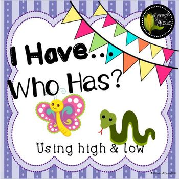 I Have, Who Has? High & Low-Pastel