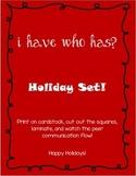 I Have Who Has Holiday FREEBIE