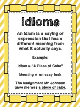 I Have... Who Has... IDIOMS! Game