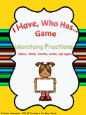 I Have, Who Has...Identifying Fractions Game