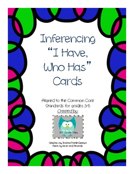 I Have Who Has Inferencing Cards