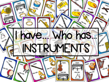 I Have Who Has Instrument Matching Identification Game