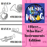 I Have.. Who Has..? Instruments Edition