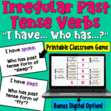 Irregular Past Tense Verbs I Have Who Has Game