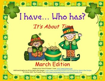 I Have. Who Has? It's About Time: March Edition