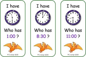 I Have. Who Has? It's About Time: Dinosaur Edition