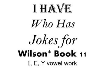 I Have, Who Has Jokes for Wilson Book 11 Review