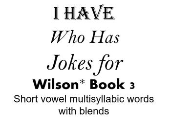I Have, Who Has Jokes for Wilson Book 3 Review