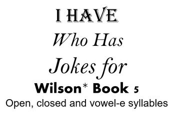 I Have, Who Has Jokes for Wilson Book 5 Review