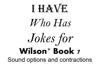 I Have, Who Has Jokes for Wilson Book 7 Review