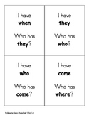 """""""I Have, Who Has"""" Kindergarten Sight Word Game"""
