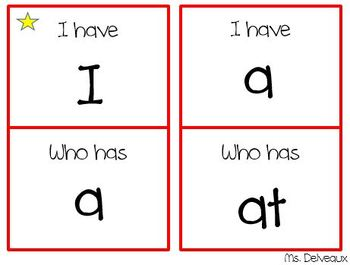 I Have, Who Has, Kindergarten Sight Words