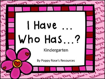 I Have... Who Has...?  Kindergarten Sight word Game