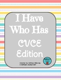 I Have Who Has CVCE Game (BLACKLINE)
