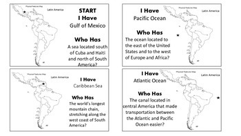 I Have, Who Has? Latin America