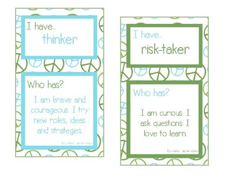 I Have... Who Has? Learner Profile Game for IB PYP and MYP