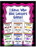 I Have, Who Has Letter Game