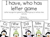 I Have, Who Has: Letter Recognition