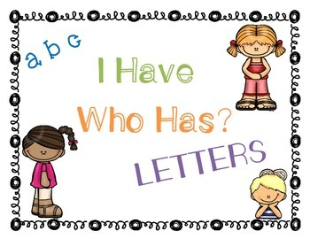 I Have, Who Has Letters