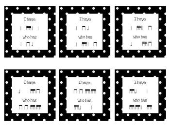 I Have / Who Has- Level 2 Rhythms