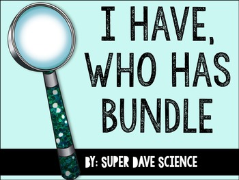 I Have, Who Has Life Science Bundle 7 Sets