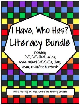 I Have, Who Has? Literacy Bundle