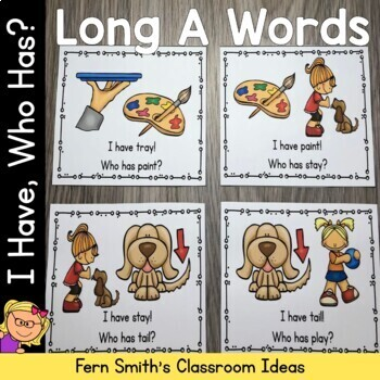 I Have, Who Has? Long A Words Cards