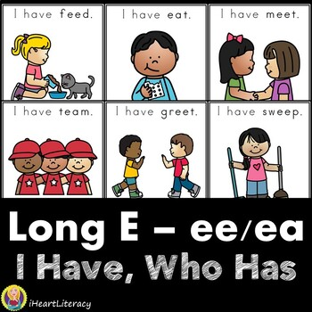 I Have Who Has Long E Vowel Team and CVCe Word Mix Game