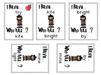 I Have, Who Has: Long I Edition  Phonics Games for the Classroom