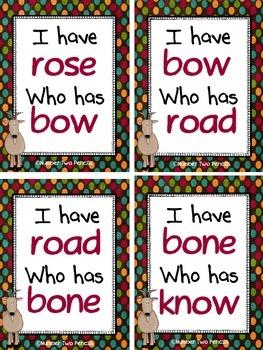 I Have, Who Has: Long O