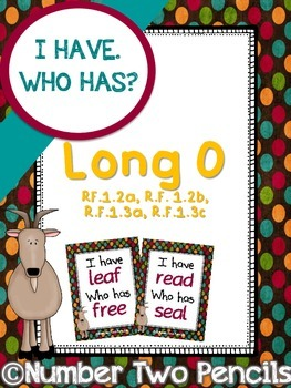 I Have, Who Has: Long O
