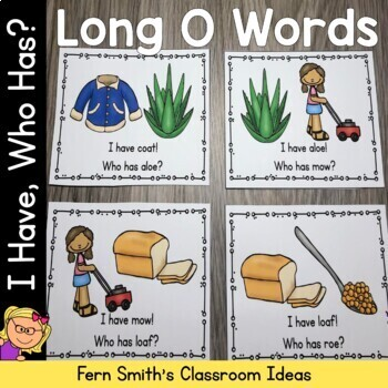 I Have, Who Has? Long O Words Cards