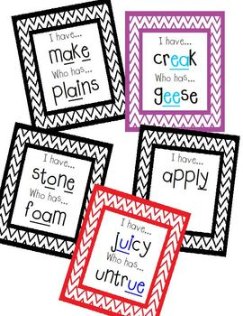 I Have, Who Has - Long Vowel BUNDLE