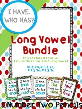 I Have, Who Has: Long Vowel Bundle