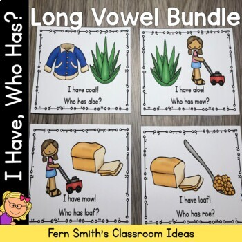 I Have Who Has Game Long Vowel Bundle