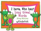 I Have... Who Has? Long Vowel Words {Frog Edition}